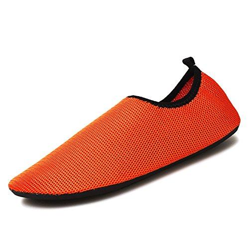 en cintas cuidado Natación deportivos antideslizante zapatos Lucdespo de el zapatos Sk8 buceo aire naranja la la descalzo los de calzado piel libre correr al playa IRddPw