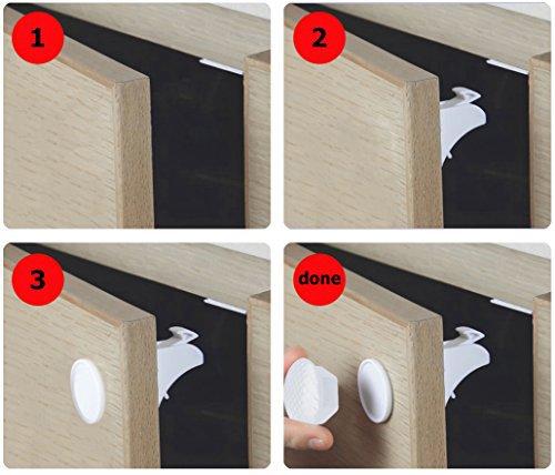 12 Locks 3 Keys Magnetic Baby Proof Safety Locks Set