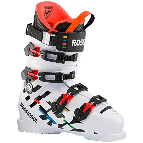 Rossignol Hero World Cup 130 Medium Ski Boots, Unisex, White, 28.0