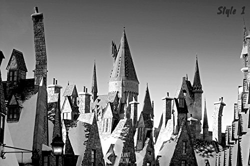 Harry Potter Photography, Hogsmeade Village, Black And White, Hogwarts Harry Potter, Gothic Home Decor, Whimsical Wall Art, Wizardry, Decor
