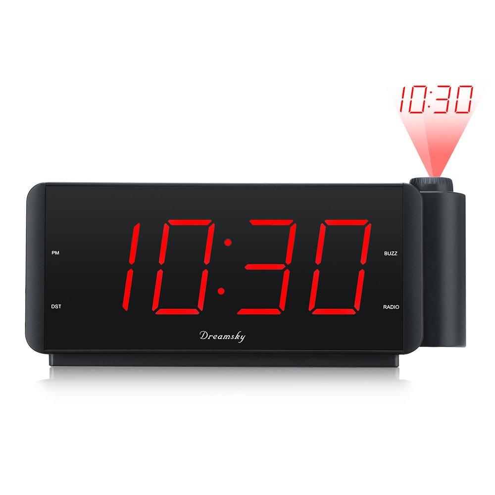Amazoncom DreamSky Projection Clock 75 Large Alarm