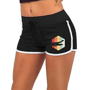 Womens Sexy Booty Shorts Retro 70s Alligator Torso Silhouette Bike Fitness Running At Amazon Clothing Store