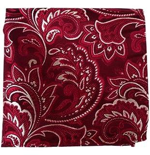 3e0656c2eb168 The Tie Bar 100% Woven Silk White Organic Paisley Tie at Amazon ...