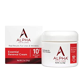 Alpha Skin Care Essential Renewal Cream 10 Glycolic Aha Real Results For Lines And Wrinkles Amazon In Beauty