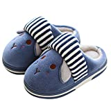 Muium Kids Baby Girls Boys Cartoon Indoors Shoes Thick Warm Winter Slippers Sneakers Casual Home Shoes for 1-10 Years Old (16(Age 2.5-3 Years), Sky Blue)