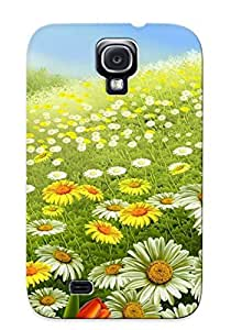 Awesome Case Cover/galaxy S4 Defender Case Cover(daisy Field ) Gift For Christmas