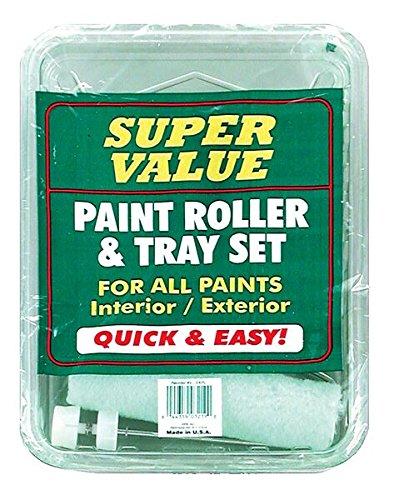 Premier Economy Paint Roller & Plastic Tray Set, 3 Piece, 9-EKPL