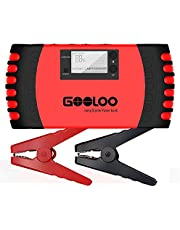 GOOLOO 800A Peak 18000mAh SuperSafe Car Jump Starter with USB Quick Charge (Up to 7.0L Gas or 5.5L Diesel Engine) 12V Auto Battery Booster Portable Charger Power Pack Built-in Smart Protection