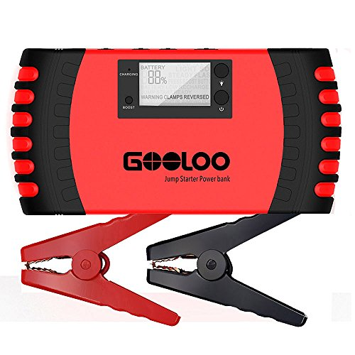 GOOLOO 700A Portable Car Jump Starter 18000mAh Phone Power Bank Auto Battery Charger Pack Booster with Dual USB Charging Port, LCD Screen and LED Light, Built-in Smart Protection