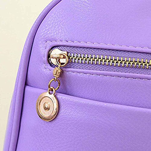 Satchel Leather Elevin Travel Purple Bag Rucksack TM Backpack Women New School Shoulder Fashion Girls Boys tpzqpw