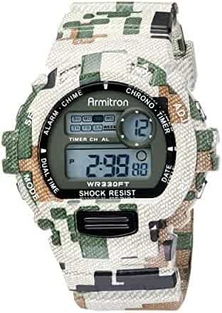 Armitron Sport Men's 40/8216MIL Digital Chronograph Watch With Camouflage Resin Band