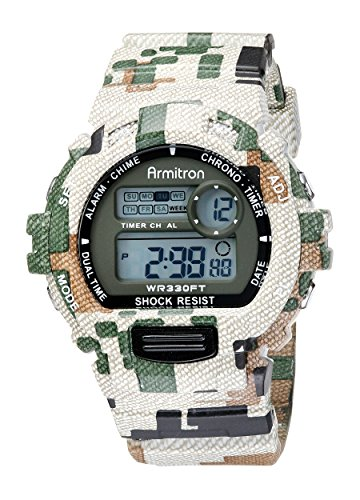 Amazon.com: Armitron Sport Mens 40/8216MIL Digital Chronograph Watch With Camouflage Resin Band: Watches