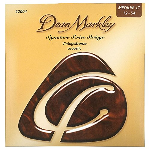 Dean Markley Signature Vintage Bronze Acoustic Strings, 12-54, 2004, Medium Light