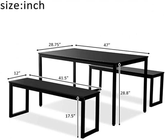 WFHhsxfh 3-Piece del Vector de Cena con Dos sillas de la Cocina contemporánea Mueble de casa Muebles for la vajilla ...