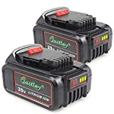 2 Pack Waitley DCB200 6.0A Replacement Battery for Dewalt 20V Max XR Tools