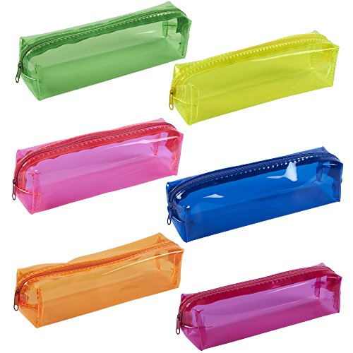Clear Plastic Pencil Bags - 6