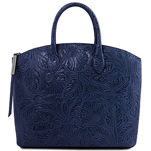 Bag Women's Shoulder TL141670 LEATHER One TUSCANY blue Blue Size wOxITSn5qn