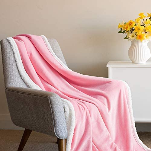 Microfiber Blanket for Bed Couch Chair,Pink Twin Tempcore Flannel Fleece Blanket Twin Size Pink,Super Soft Cozy Luxury Bed Blanket