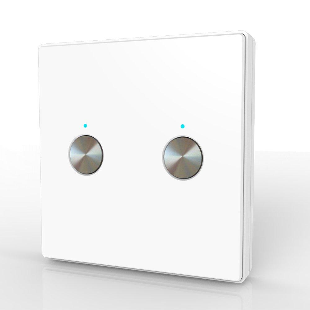 60HZ S/ûr pour la vie Poids l/éger Taille compacte Facile /à utiliser Facile /à installer panneau de commutation de r/écepteur sans fil 100V-240VAC 50 ENNIO Interrupteur de t/él/écommande sans fil 2CH