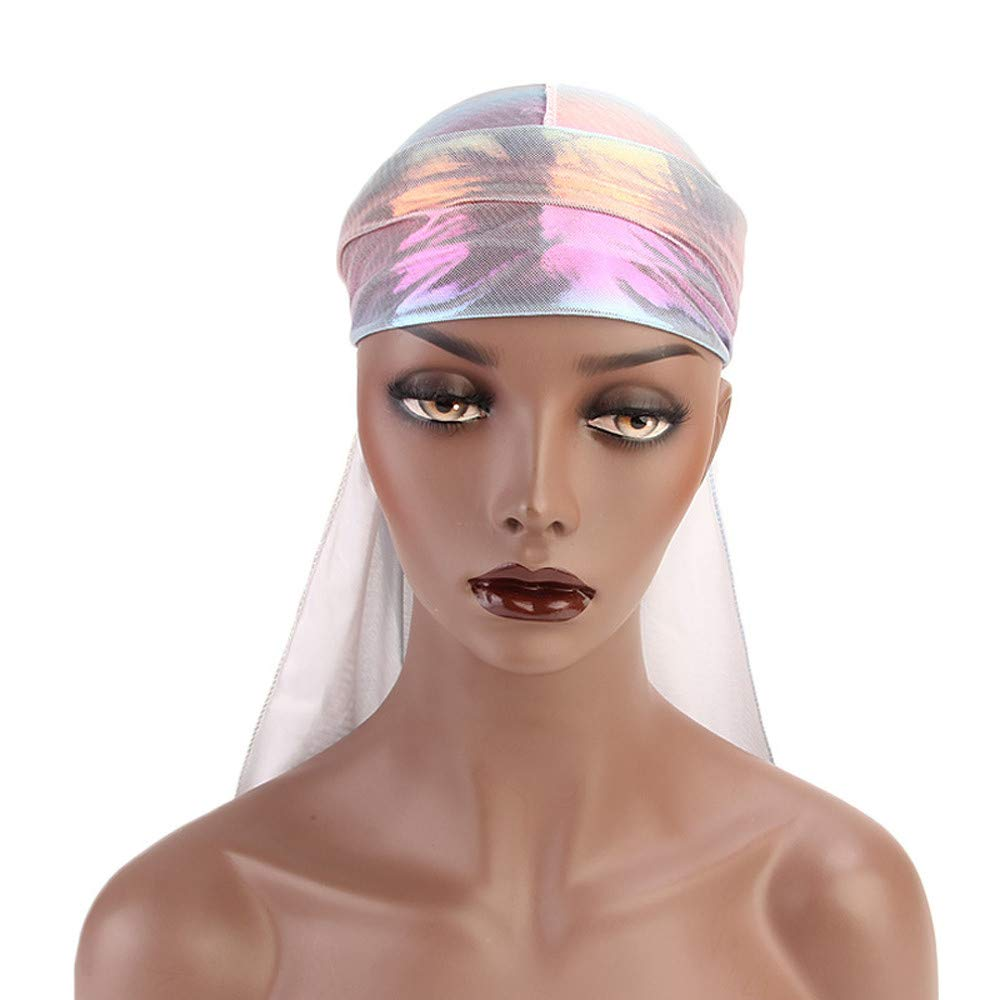 Inverlee Men/Women Silk Polyester Bandana Hat Durag Rag Tail Headwrap Headwear Gift by Inverlee (Image #4)