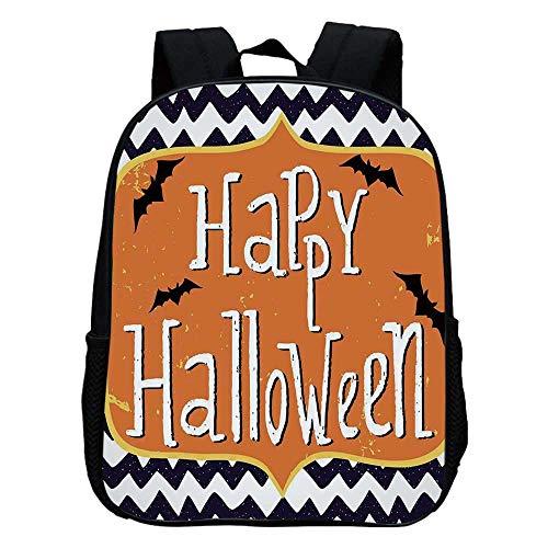 Halloween Durable Kindergarten Shoulder Bag,Cute Halloween Greeting Card