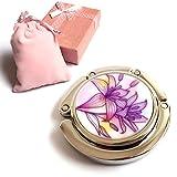 Kyпить Elesa Miracle Purse Hook8 Choices Foldable Handbag Hanger, Folding Table Hanger, with Velvet Pouch in Gift Box (Purple Lily) на Amazon.com