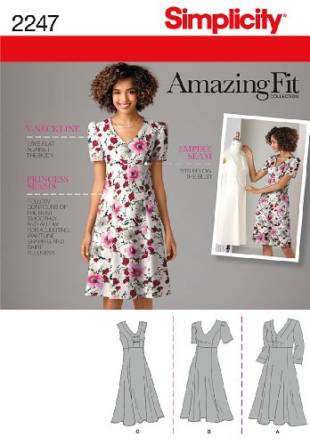 (Simplicity Amazing Fit Collection Women's Summer Dress Sewing Pattern, Sizes 10-18)