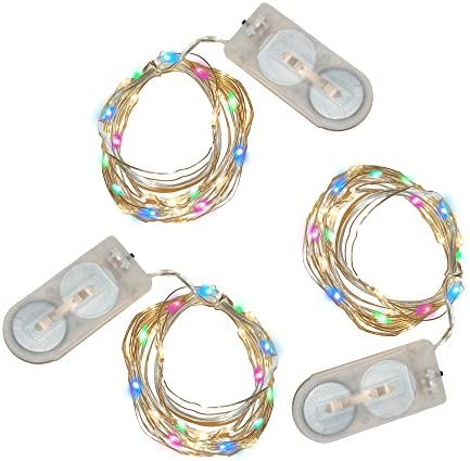 Lumabase 60603 3 Count Battery Operated Submersible Mini String Lights 60 Lights , Multicolor
