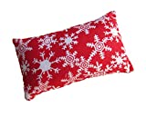Nakpunar Red Snowflakes Emery Pincushion - Keep your needles clean and sharp - Filled with Abrasive Emery Mineral