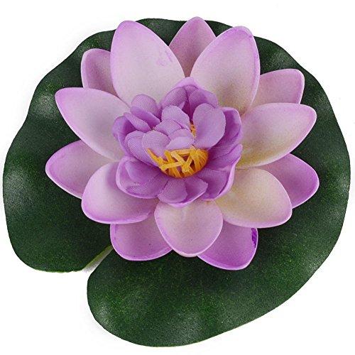 Bluelans-Floating-Pond-Decor-Water-Lily-Lotus-Foam-Flower-10cm4-Set-of-8