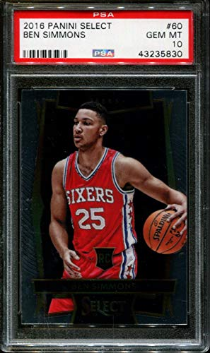 2016-17 Panini Select Ben Simmons Rookie PSA 10 76ers Basketball Card ()