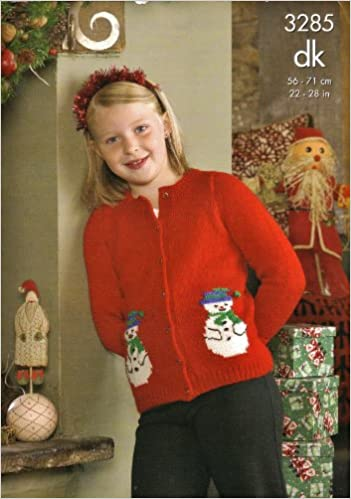 King Cole Knitting Pattern 3285 Childrens Father Christmas