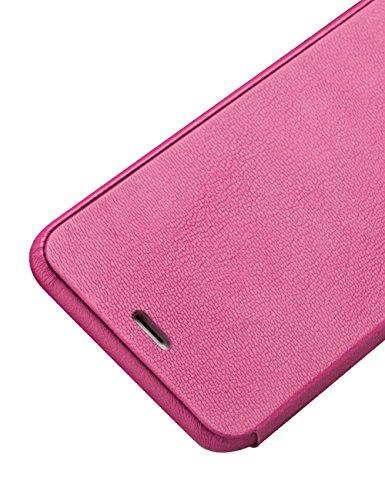 """Quialino Klapp-Lederhülle für iPhone 6 / 6S, Echtleder, zweilagiger Schutz, Leder, rose, 5.5"""" iPhone 6 /6s Plus"""