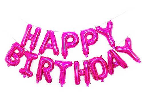 Happy Birthday Mylar Balloons Letters Balloon Pink
