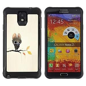 """Pulsar iFace Series Tpu silicona Carcasa Funda Case para SAMSUNG Galaxy Note 3 III / N9000 / N9005 , Bate de dibujos animados del cuento de hadas lindos ojos grandes Animal"""""""