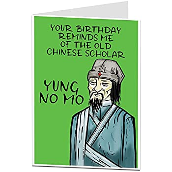 Funny Happy Birthday Card Perfect For Men Or Women Blank Inside To Add Your Own Personal Greeting Rude Age Joke Mum Dad 40th 50th 60th 70th