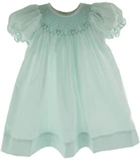 346a34e37 Amazon.com: Petit Ami Girls Smocked Dress Mint Green Portrait Outfit ...