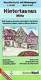Hintertaunus Mitte 1 : 25 000, Blatt 45-557: Wanderkarte mit Radwegen, Bad Camberg, Brechen, Glashütten, Hünfelden, Hünstetten, Idstein, Selters, Villmar, Waldems