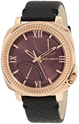 Vince Camuto Men's VC/1003BYRG The Veteran Wine Dial Date Function Rosegold-Tone Watch