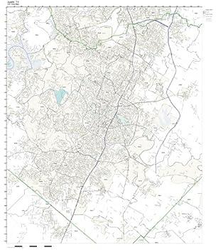 Amazon.com: ZIP Code Wall Map of Austin, TX ZIP Code Map Laminated ...