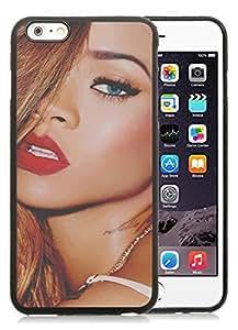 Rihanna Black iPhone 6 Plus 5.5 inch TPU Cellphone Case Luxurious and Newest Design