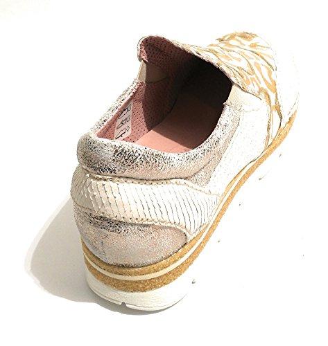 de Clocharme Zapatillas Gold Mujer Silver Cuero para Cw5wq