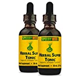 SpeedyVite® Herbal Super Tonic [Enhanced] Organic -Apple Cider Vinegar Horseradish Onion Garlic Ginger Serrano Cayenne Habanero pepper Supports Immune Function* ★Made in USA (2 x 2 fl oz *Value Pack*)