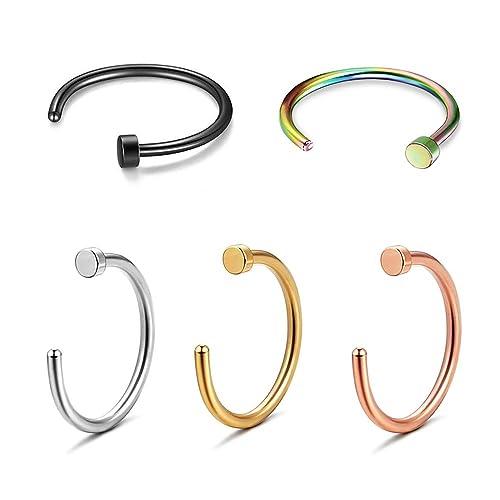 Amazon.com: Formissky - Juego de 5 piercings falsos para ...