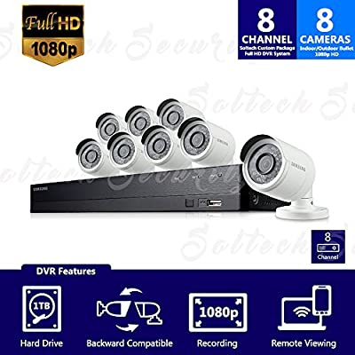 SDH-B74081-1TB - Samsung 8 Channel 1080p HD 1TB Security Camera System with 8 Outdoor BNC Bullet Cameras (SDC-9443BC) by Samsung