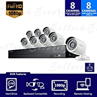 SDH-B74081-1TB - Samsung 8 Channel 1080p HD 1TB Security Camera System with 8 Outdoor BNC Bullet Cameras (SDC-9443BC)