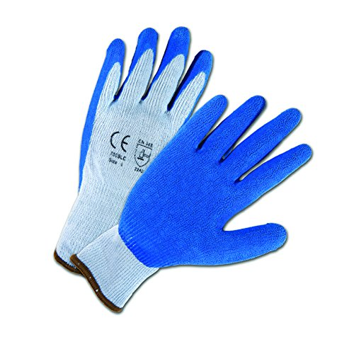 Blue Crinkle Latex - West Chester 700SLC 2XL Crinkle Finish Latex Palm Coated Gloves, 2XL, Blue (Pack of 12)