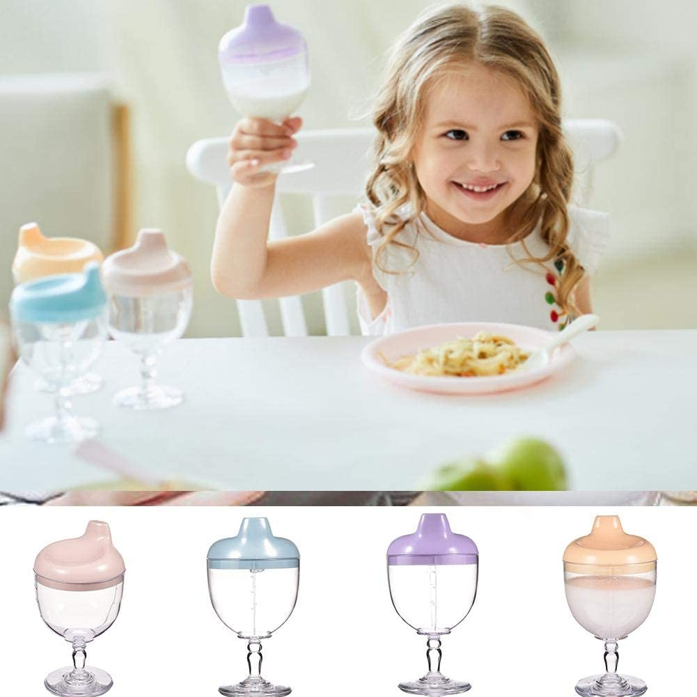 IMCROWN Baby Cup Party Goblet,shatterproof and BPA-Free Flute Glasses Easy to Grip for Infants Older 8 Months for Milk Juice Beverages Water and Baby Cups