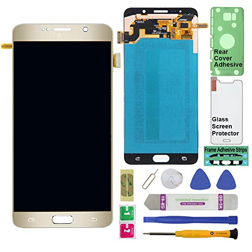 - Display Touch Screen (AMOLED) Digitier Assembly with Stylus Pen Sensor for Samsung Galaxy Note 5 (V) N920 N920A N920T N920V N920P N920R4 N920F (Mobile Phone Repair Replacement) (Gold Platinum)