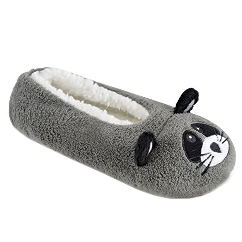 Raccoon Novelty Slippers Design Pug and Animal Ladies Ballet Raccoon TqSZa